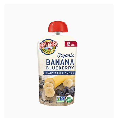 유기농 2단계 바나나 블루베리 파우치 이유식 113g